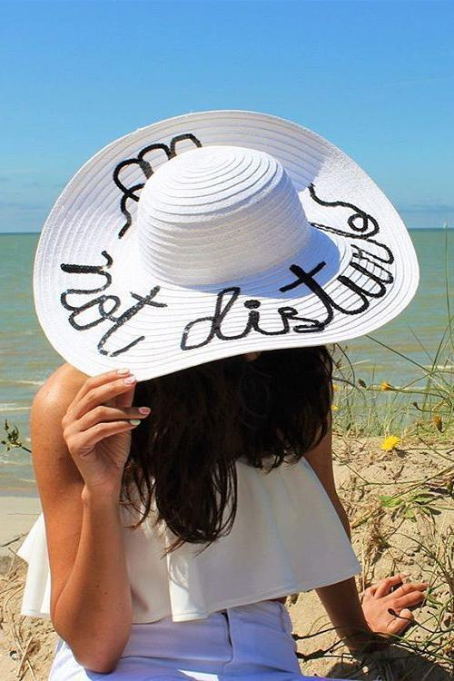 Sequin Straw Sun Hat