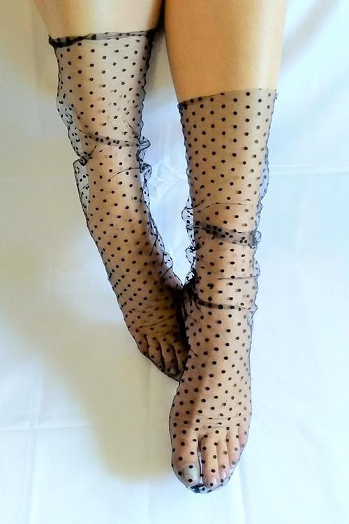 Polka Dot Tulle Socks