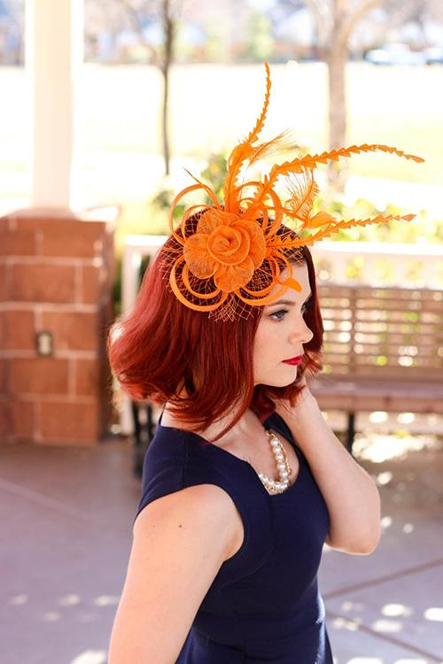Feather Mesh Fascinator