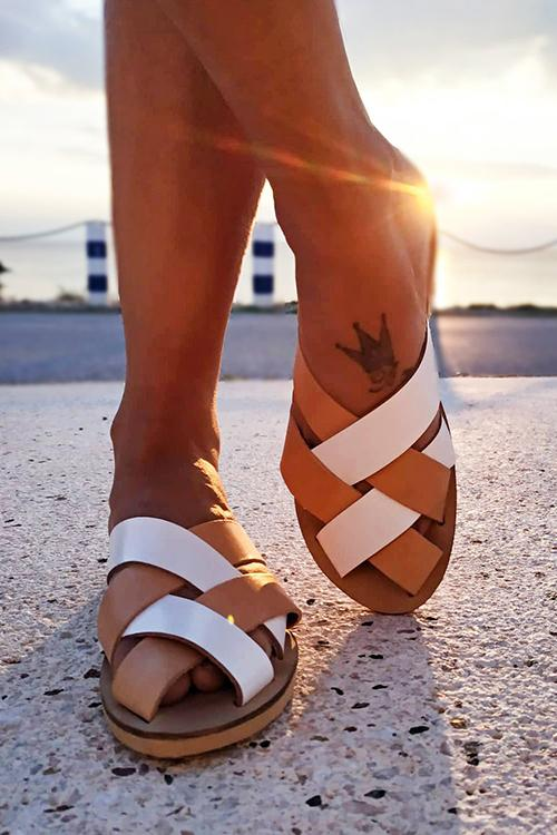 Cross Hollow Sandals