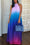 Gradient Color Halter Neck Backless Maxi Dress