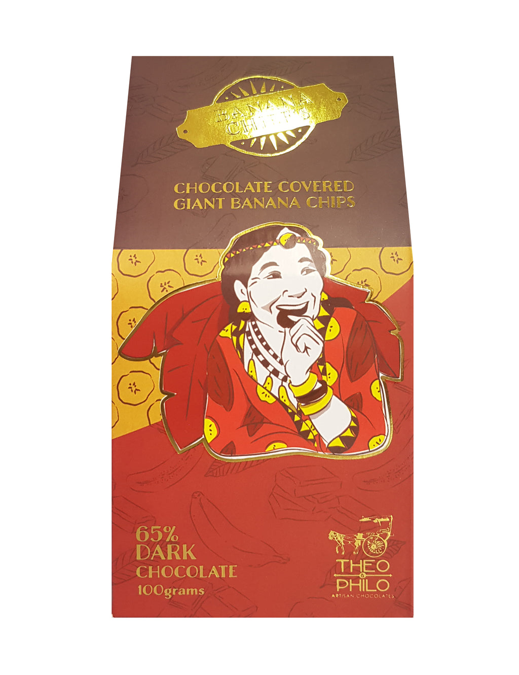 65% Dark Chocolate-covered Giant Banana Chips