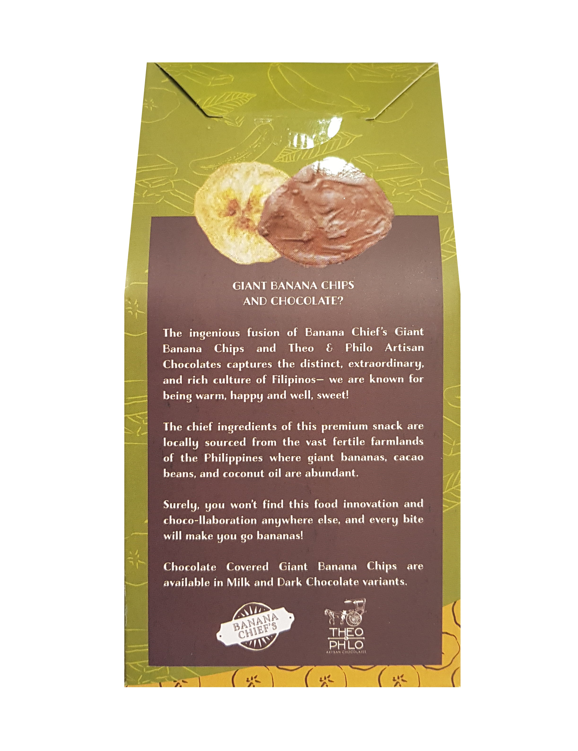 Banana Chief's x Theo & Philo - Milk Chocolate-covered Giant Banana Chips (100 grams)