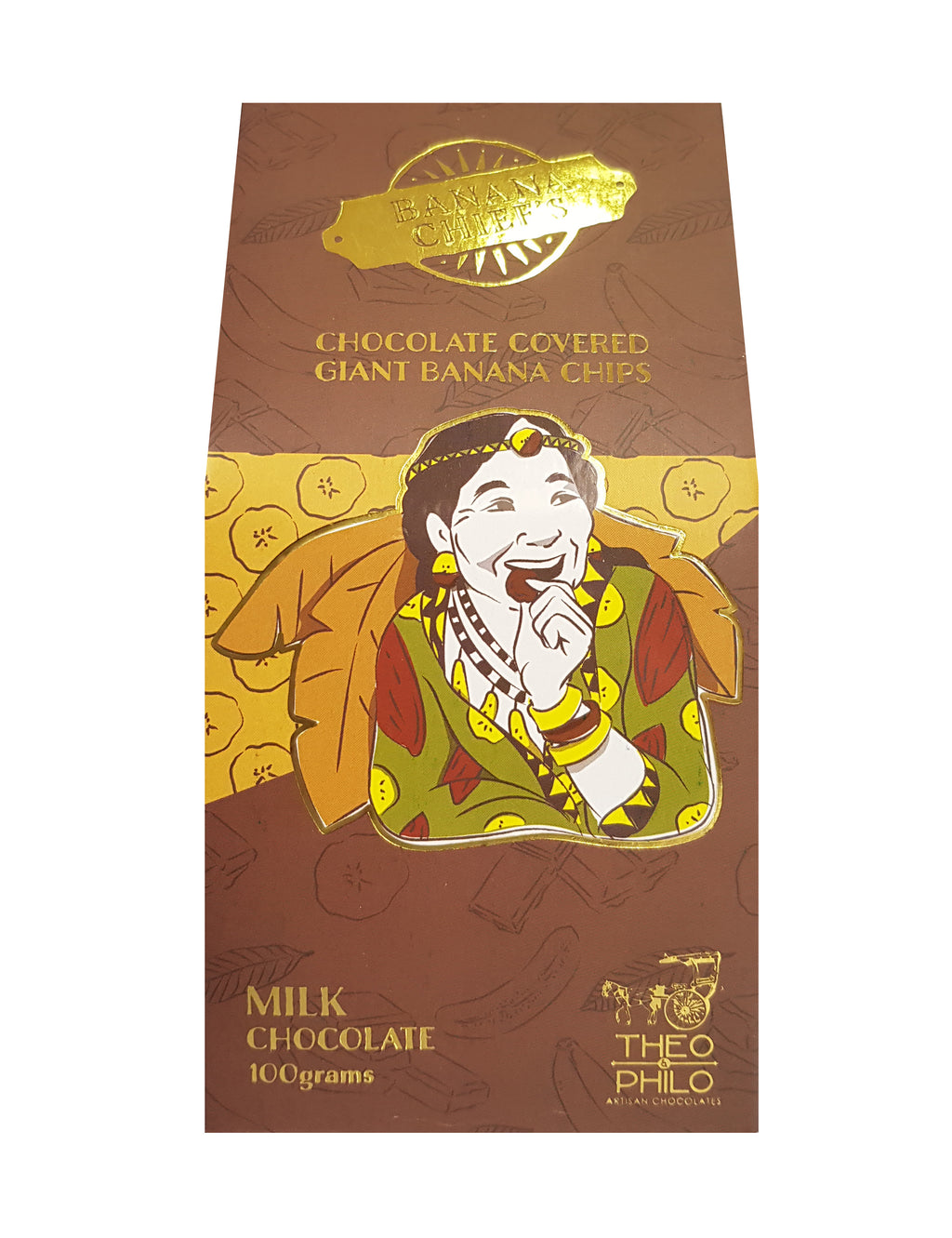 Milk Chocolate-covered Giant Banana Chips