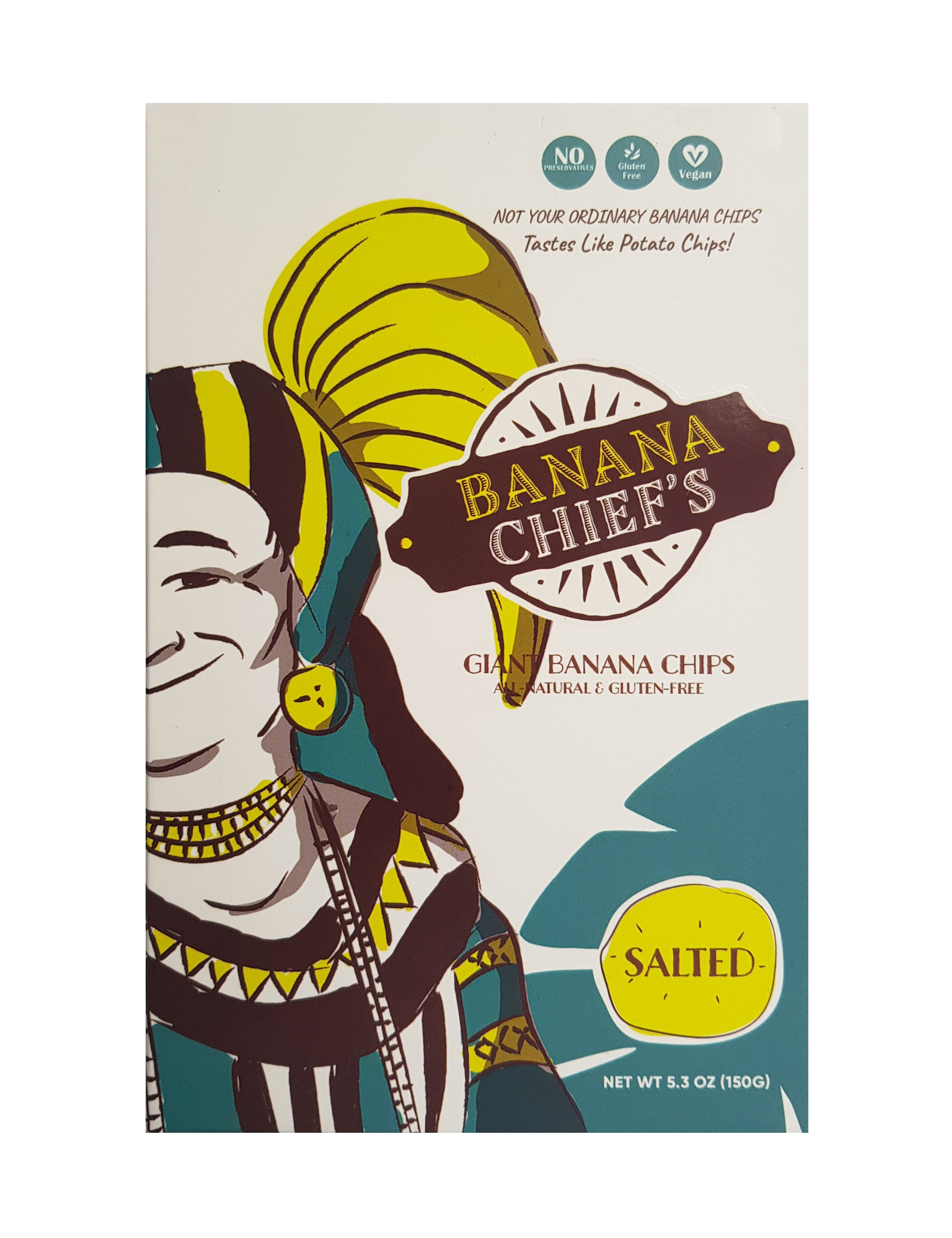 Banana Chief's Giant Banana Chips - Salted (150 grams)