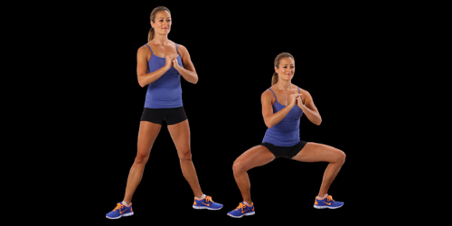 Perform side step with wide squat for perfect butt