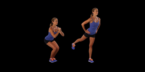Standing glute kickback allows maintaining perfect body posture