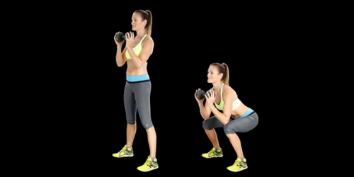 Build muscles through weighted jump squats