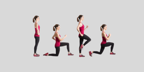 Bottoms up lunges for reducing lower body weight