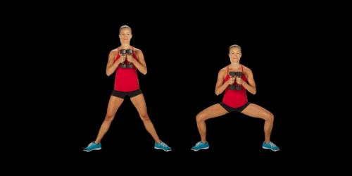 Sumo squat calf raise for toning thighs and calves