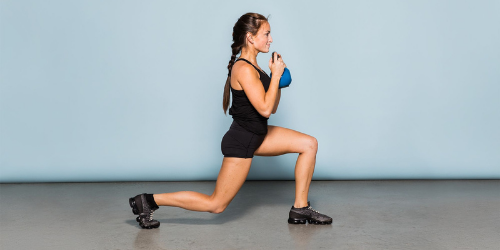 Tighten up your hips and back by reverse lunges