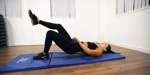Work out for your lower back in single leg hip thrust