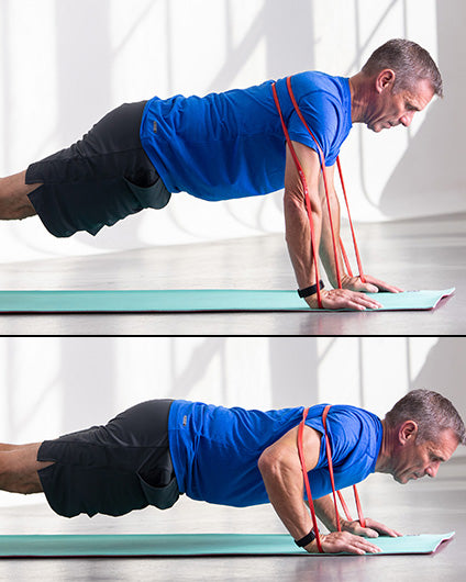 Resistance-band-chest-workout-pushups-man-with-blue-shirt