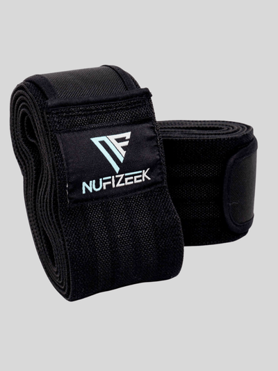 NU KNEE WRAPS NU FIZEEK ONE SIZE BLACK