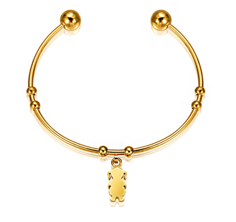 Forever Simplicity Gold Charm Bangle S16