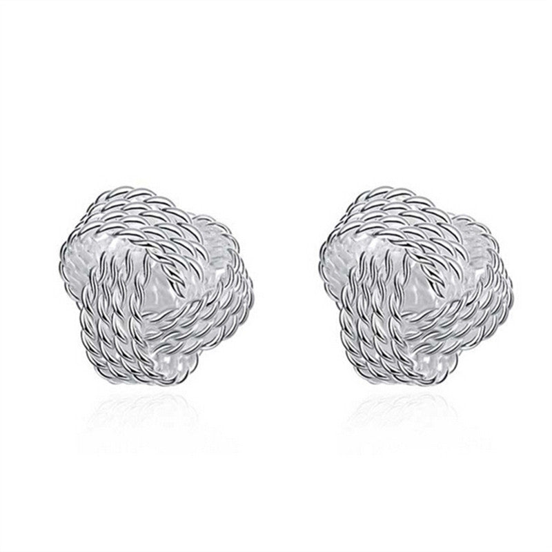 Forever Simplicity Twisted Stud Knot Earrings