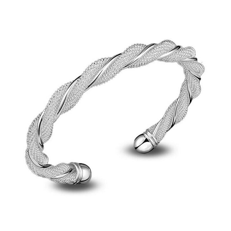 Forever Simplicity Silver Cuff Bangle S13