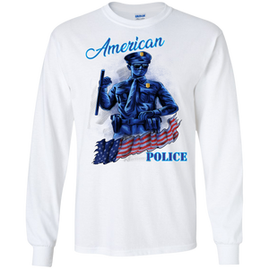 Police G240 Gildan LS Ultra Cotton T-Shirt AH157