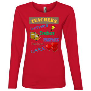 Teacher 884L Anvil Ladies' Lightweight LS T-Shirt AH125