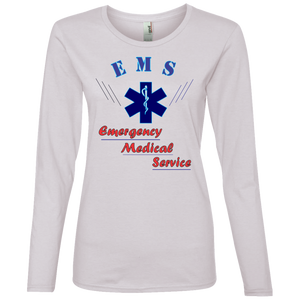 EMS 884L Anvil Ladies' Lightweight LS T-Shirt AH139