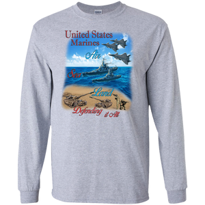 Marines G240 Gildan LS Ultra Cotton T-Shirt AM043