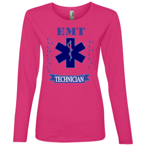 EMT 884L Anvil Ladies' Lightweight LS T-Shirt AH136