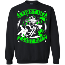 Firefighters G180 Gildan Crewneck Pullover Sweatshirt  8 oz. AH147