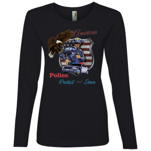 Police 884L Anvil Ladies' Lightweight LS T-Shirt AH151a