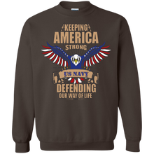 Navy G180 Gildan Crewneck Pullover Sweatshirt  8 oz. AM036