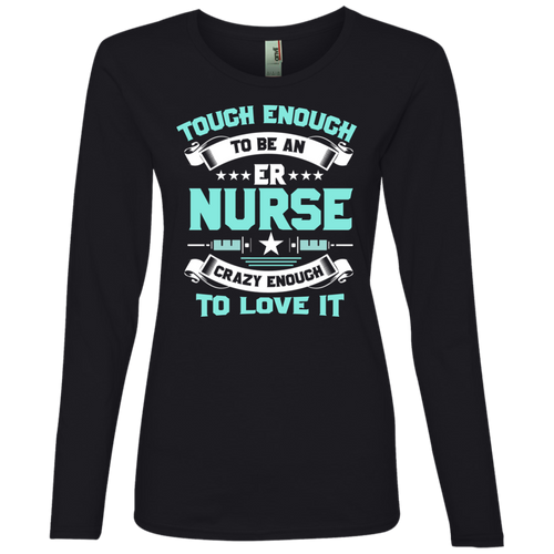 Nurse 884L Anvil Ladies' Lightweight LS T-Shirt AH119