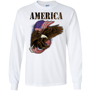 Patriotic G240 Gildan LS Ultra Cotton T-Shirt AP018