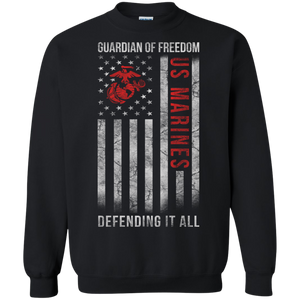 Marines G180 Gildan Crewneck Pullover Sweatshirt  8 oz. AM034