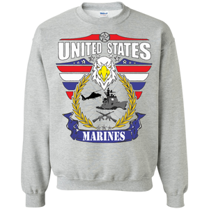 Marines G180 Gildan Crewneck Pullover Sweatshirt  8 oz .AM080