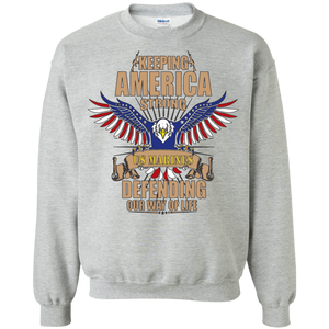Marines G180 Gildan Crewneck Pullover Sweatshirt  8 oz. AM040