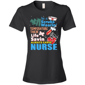 Nurse 880 Anvil Ladies' Lightweight T-Shirt 4.5 oz AH123