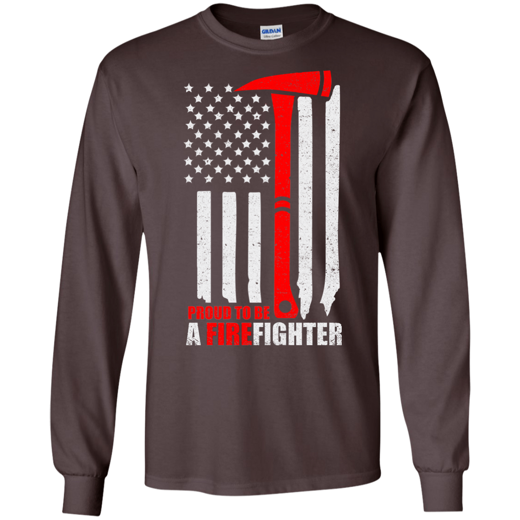 Firefighters G240 Gildan LS Ultra Cotton T-Shirt AH144