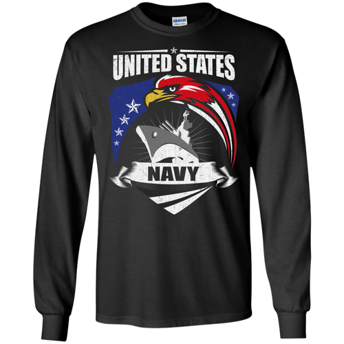 Navy G240 Gildan LS Ultra Cotton T-Shirt AM061