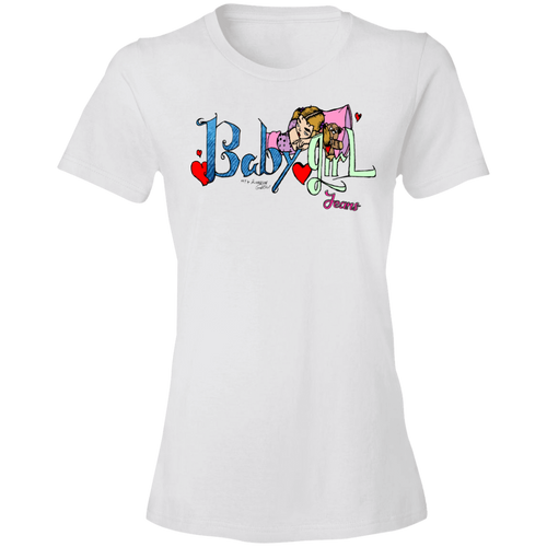 880 Ladies' Lightweight T-Shirt 4.5 oz BGJ Logo