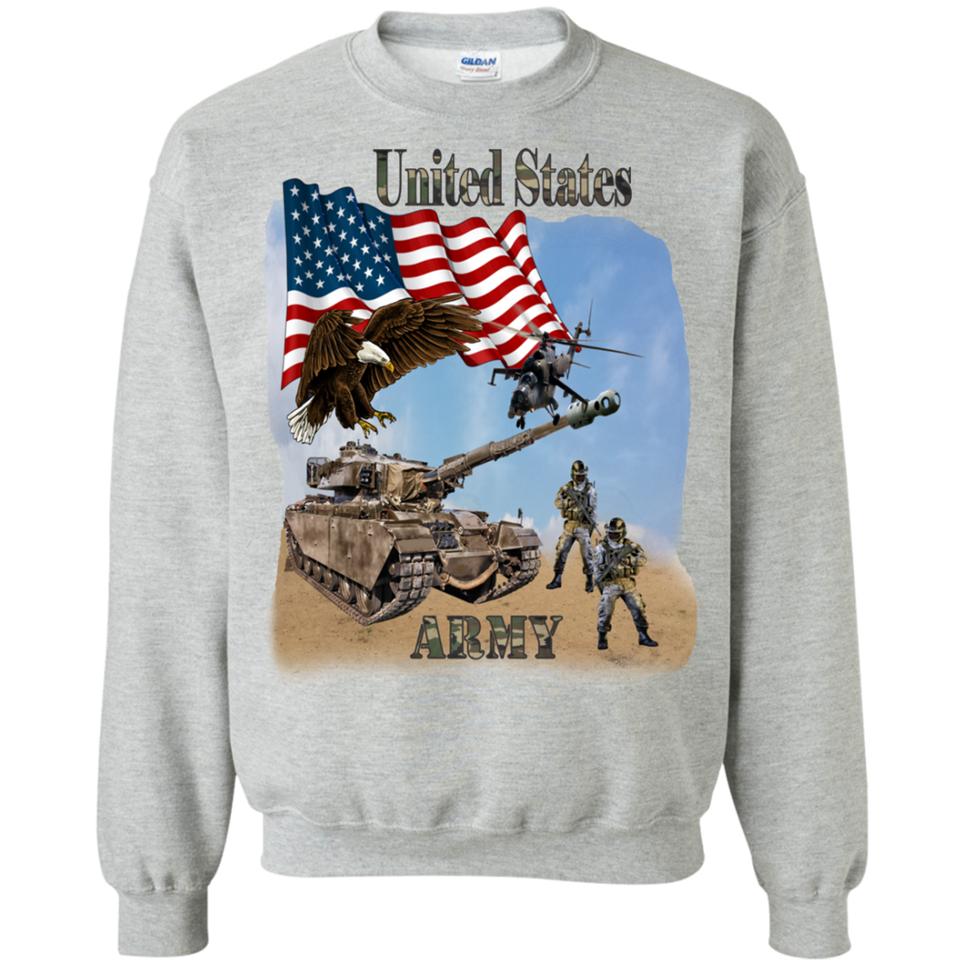 Army G180 Gildan Crewneck Pullover Sweatshirt  8 oz. AM028