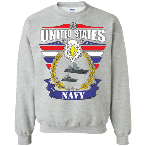 Navy G180 Gildan Crewneck Pullover Sweatshirt  8 oz. AM077