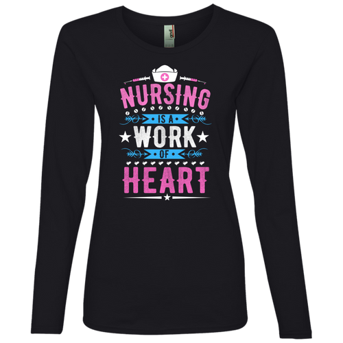 Nurse 884L Anvil Ladies' Lightweight LS T-Shirt AH120