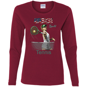 Tennis G540L Gildan Ladies' Cotton LS T-Shirt AS181