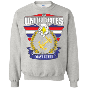 Coast Guard G180 Gildan Crewneck Pullover Sweatshirt  8 oz AM078.