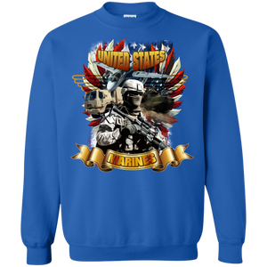 Marines G180 Gildan Crewneck Pullover Sweatshirt  8 oz. AM042