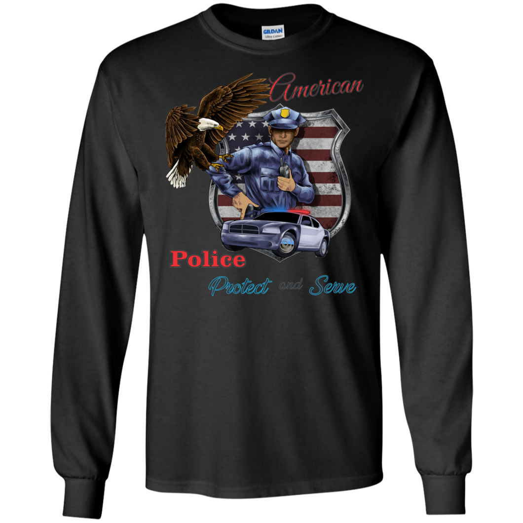 Police G240 Gildan LS Ultra Cotton T-Shirt AH151a