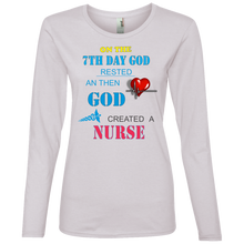 Nurse 884L Anvil Ladies' Lightweight LS T-Shirt AH108