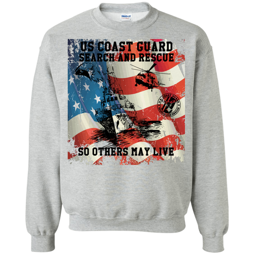 Coast Guard G180 Gildan Crewneck Pullover Sweatshirt  8 oz AM064.