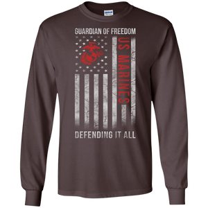 Marines G240 Gildan LS Ultra Cotton T-Shirt AM034