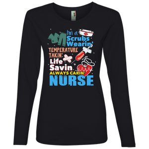 Nurse 884L Anvil Ladies' Lightweight LS T-Shirt AH123