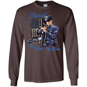 Police G240 Gildan LS Ultra Cotton T-Shirt AH153